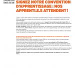 Bureaux d'études : Madame la Ministre signez notre convention d'apprentissage : nos apprenti.e.s attendent !